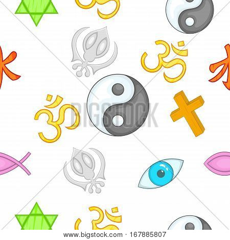 Religious faith pattern. Cartoon illustration of religious faith vector pattern for web