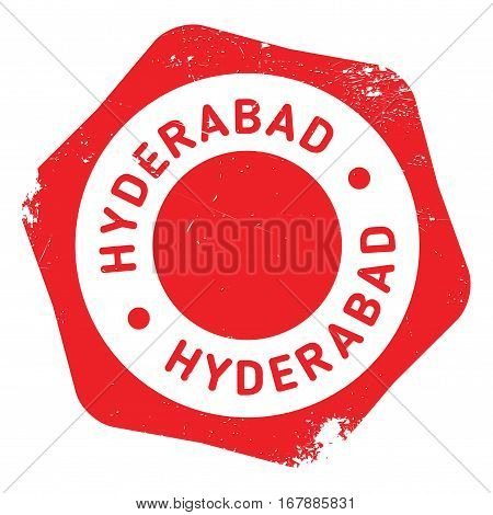 Hyderabad stamp. Grunge design with dust scratches. Effects can be easily removed for a clean, crisp look. Color is easily changed. rubber grunge