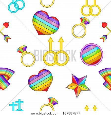 LGBT pattern. Cartoon illustration of LGBT vector pattern for web