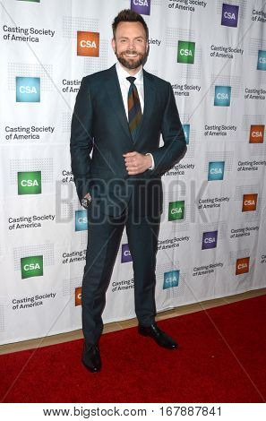LOS ANGELES - JAN 19:  Joel McHale at the 2017 Artios Awards at Beverly Hilton Hotel on January 19, 2017 in Beverly Hills, CA