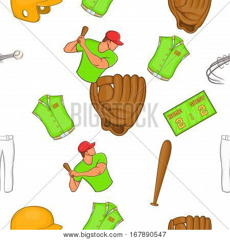 Game with bat pattern. Cartoon illustration of game with bat vector pattern for web