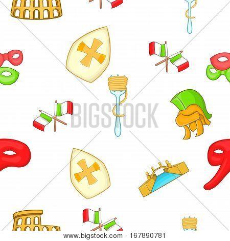 Italy pattern. Cartoon illustration of Italy vector pattern for web