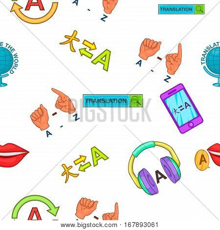 Foreign language pattern. Cartoon illustration of foreign language vector pattern for web