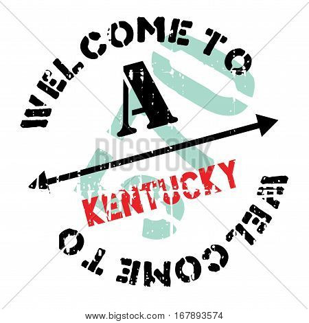 Kentucky stamp. Grunge design with dust scratches. Effects can be easily removed for a clean, crisp look. Color is easily changed. rubber grunge