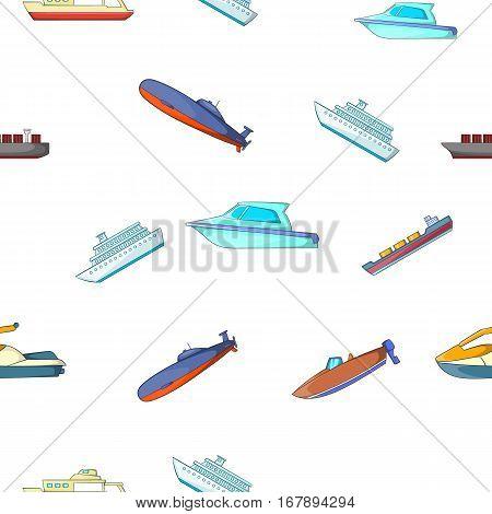 Maritime transport pattern. Cartoon illustration of maritime transport vector pattern for web