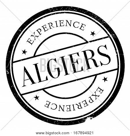 Algiers stamp. Grunge design with dust scratches. Effects can be easily removed for a clean, crisp look. Color is easily changed.