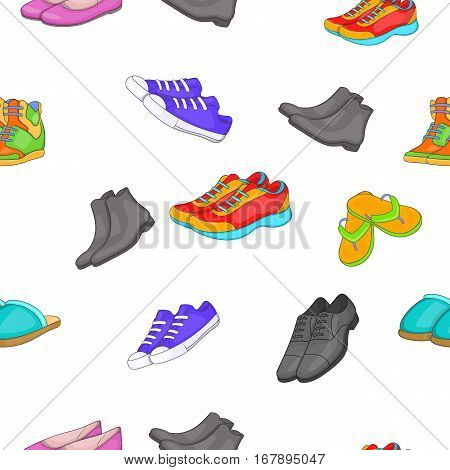 Foot care pattern. Cartoon illustration of foot care vector pattern for web