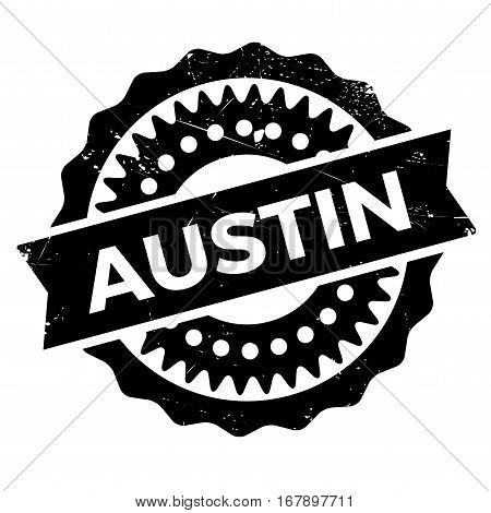Austin stamp. Grunge design with dust scratches. Effects can be easily removed for a clean, crisp look. Color is easily changed.