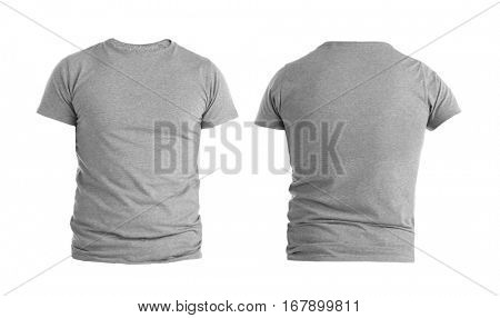 Front and back views of t-shirt on white background