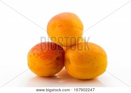 Group sweet apricot on a white background