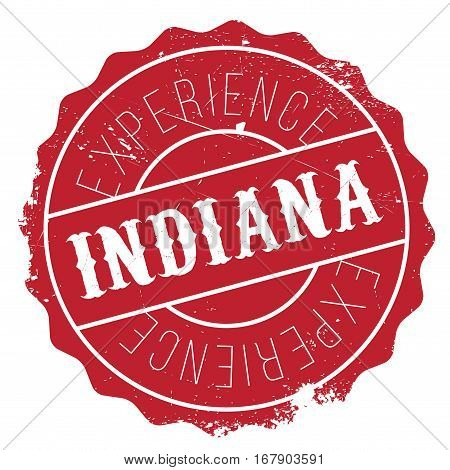 Indiana stamp. Grunge design with dust scratches. Effects can be easily removed for a clean, crisp look. Color is easily changed.
