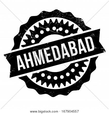 Ahmedabad stamp. Grunge design with dust scratches. Effects can be easily removed for a clean, crisp look. Color is easily changed.