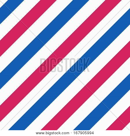 Vector barber pole texture. Barbershop concept colorful diagonal seamless pattern
