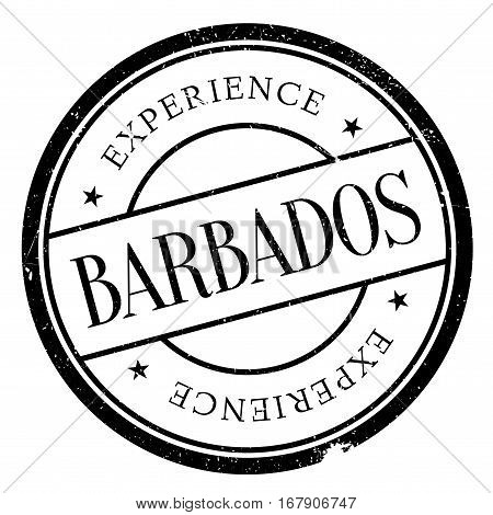 Barbados stamp. Grunge design with dust scratches. Effects can be easily removed for a clean, crisp look. Color is easily changed.