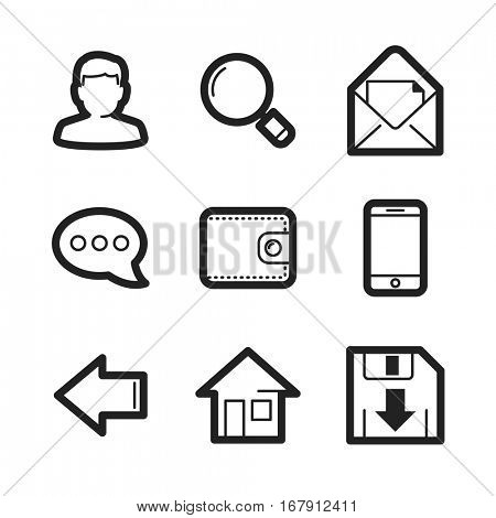 Most requested icons - universal web signs collection