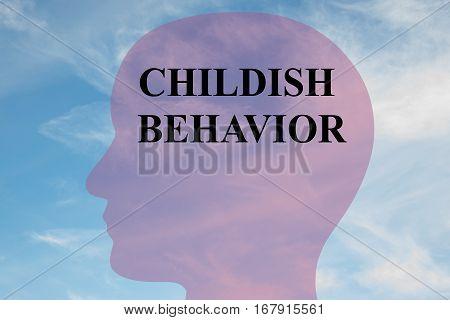 Childish Behavior Concept