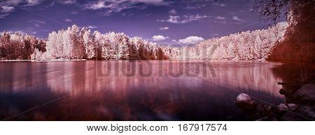 Infrared Lake Panorama