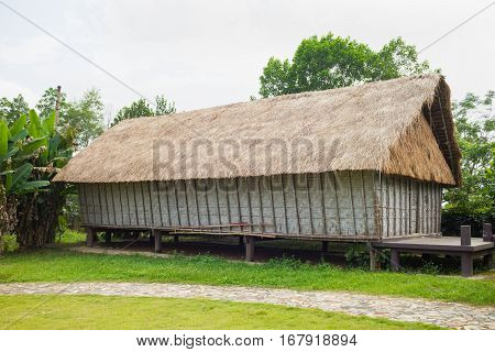 Typical House Of J'rai People In Central High Land Of Vietnam