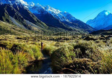 This is a Hooker Valley TrackMount Cook New Zealand.