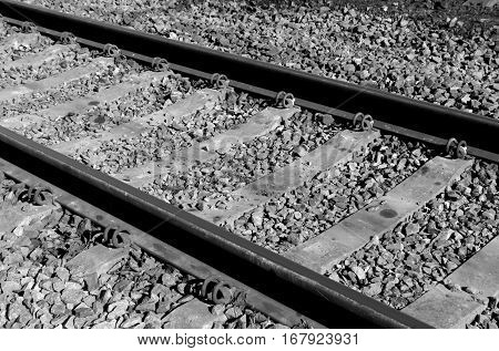 Old Railroad In Black And White