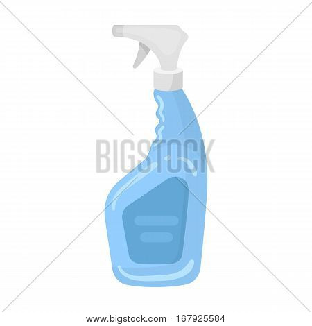 Cleaner spray icon in cartoon design isolated on white background. Cleaning symbol stock vector illustration.