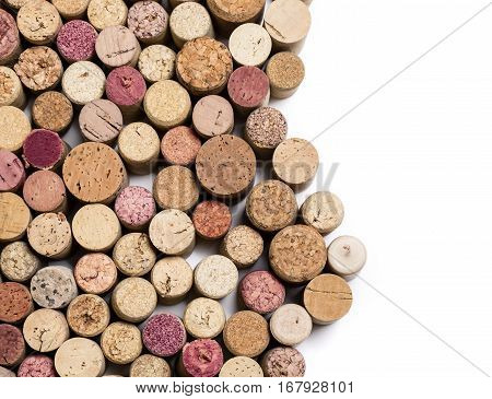 the wine corks isolated on white background