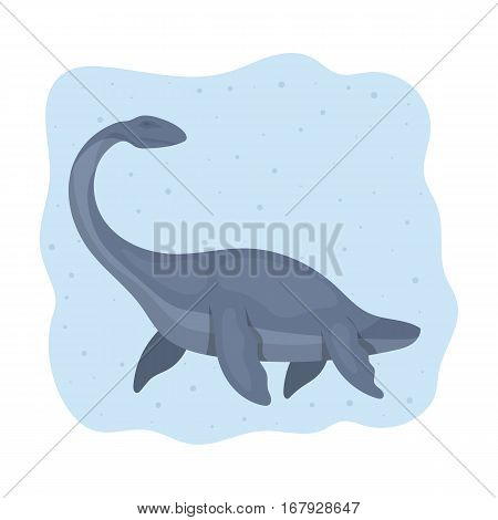 Sea dinosaur icon in cartoon design isolated on white background. Dinosaurs and prehistoric symbol stock vector illustration.
