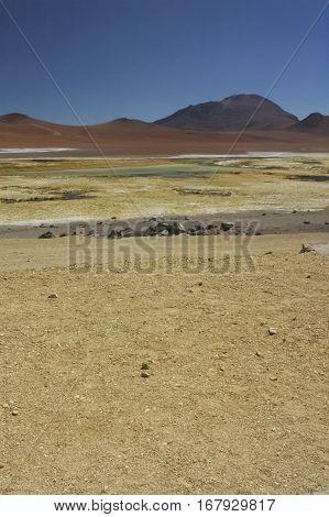 Wonderful landscape in the desert of Atacama