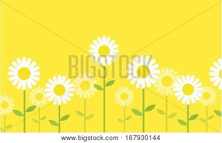 Spring background with flower vector collection stock