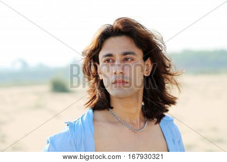 Passions Instinct Beautiful Bold sexy shirtless sizzling long hair male looks
