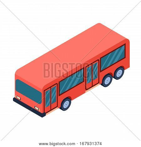 Bus icon in cartoon design isolated on white background. Transportation symbol stock vector illustration.
