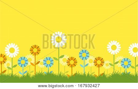 Flower spring background collection stock vector art