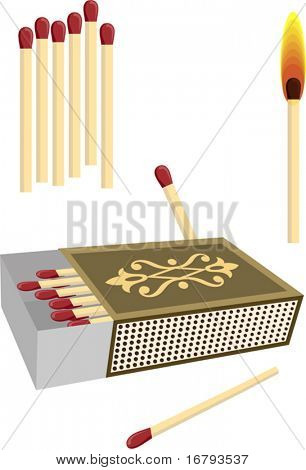 Matchbox with matches