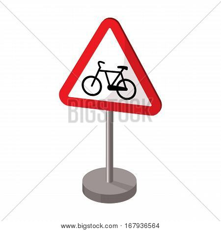Warning road sign icon in cartoon design isolated on white background. Road signs symbol stock vector illustration.