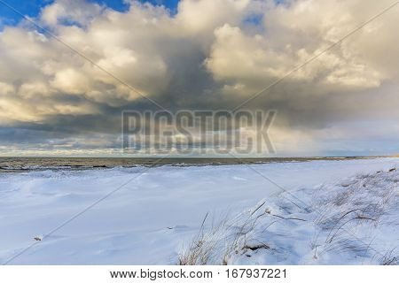 Lake Huron Shoreline In Winter