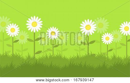 Flower at spring backgrounds vector collection stock