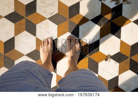 POV of feet