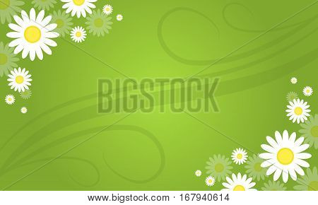 Illustartion of spring background style collection stock