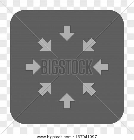 Compact Arrows interface toolbar button. Vector icon style is a flat symbol inside a rounded square button, light gray and gray colors, chess transparent background.