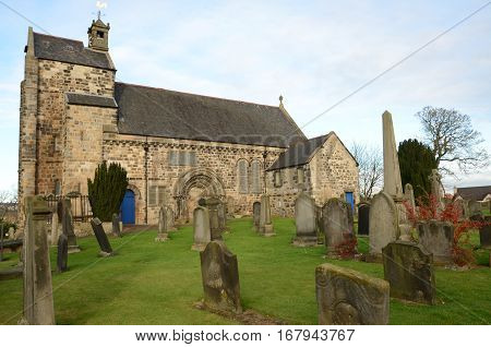 An external view of the old church in Kirkliston