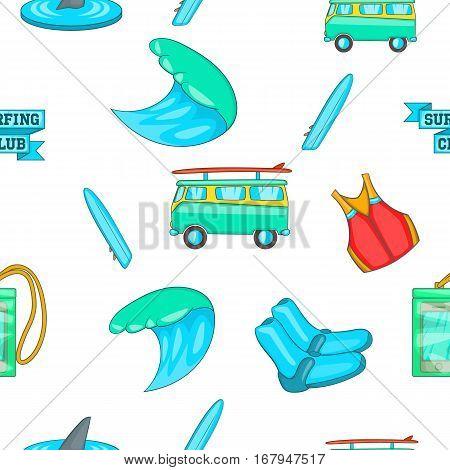 Surfing pattern. Cartoon illustration of surfing vector pattern for web