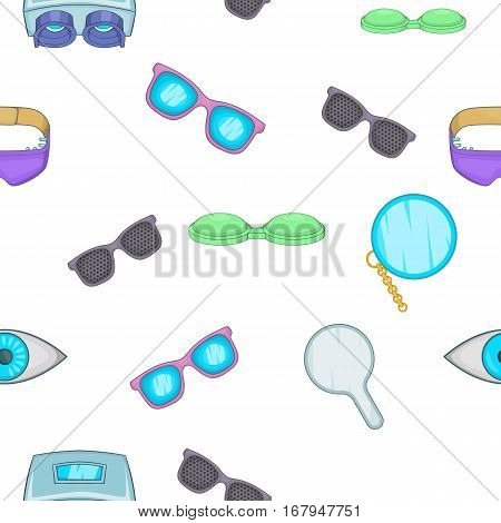 Vision pattern. Cartoon illustration of vision vector pattern for web