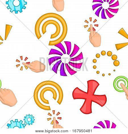 Cursor pattern. Cartoon illustration of cursor vector pattern for web