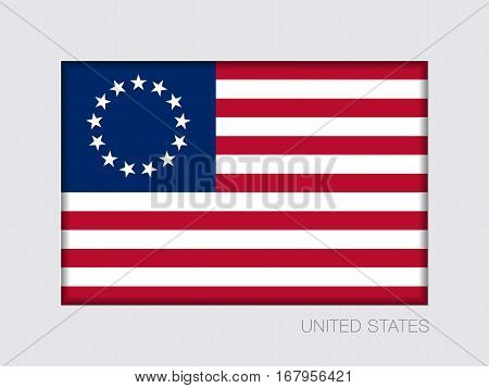 American Betsy Ross Flag. Aspect Ratio 2 To 3