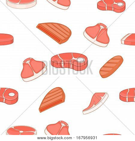 Beef pattern. Cartoon illustration of beef vector pattern for web