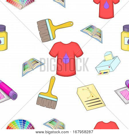 Printer pattern. Cartoon illustration of printer vector pattern for web