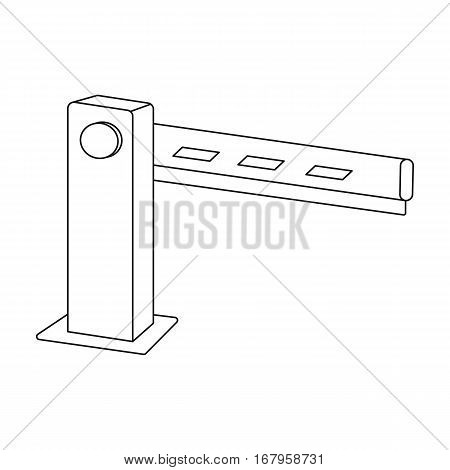 Parking barrier icon in outline design isolated on white background. Parking zone symbol stock vector illustration.
