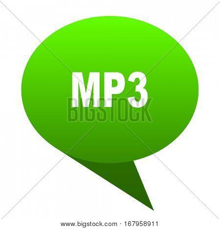 mp3 green bubble web icon