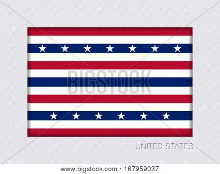 Stars And Stripes Flag. Aspect Ratio 2 To 3