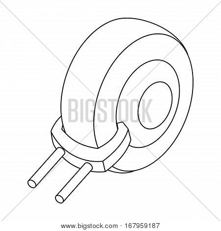 Wheel clamp icon in outline design isolated on white background. Parking zone symbol stock vector illustration.